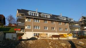 Mehrfamilienhaus Moosstsrasse 42 ca. 1 Monat vor Fertigstellung